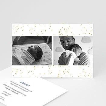 Bedankkaartjes geboorte met foto - Sirius - 0