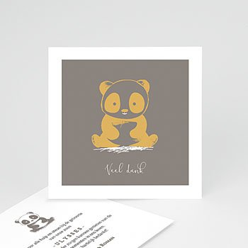Bedankkaartje geboorte zoon - Baby Panda - 0