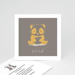 Bedankkaartje geboorte zoon Baby Panda