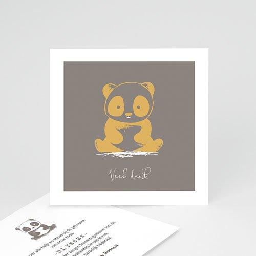 Bedankkaartje geboorte zoon - Baby Panda 63746 thumb