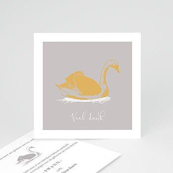 Bedankkaartje geboorte dochter - Zwaan & Goud - 0