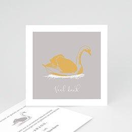 Bedankkaartjes Geboorte Zwaan & Goud