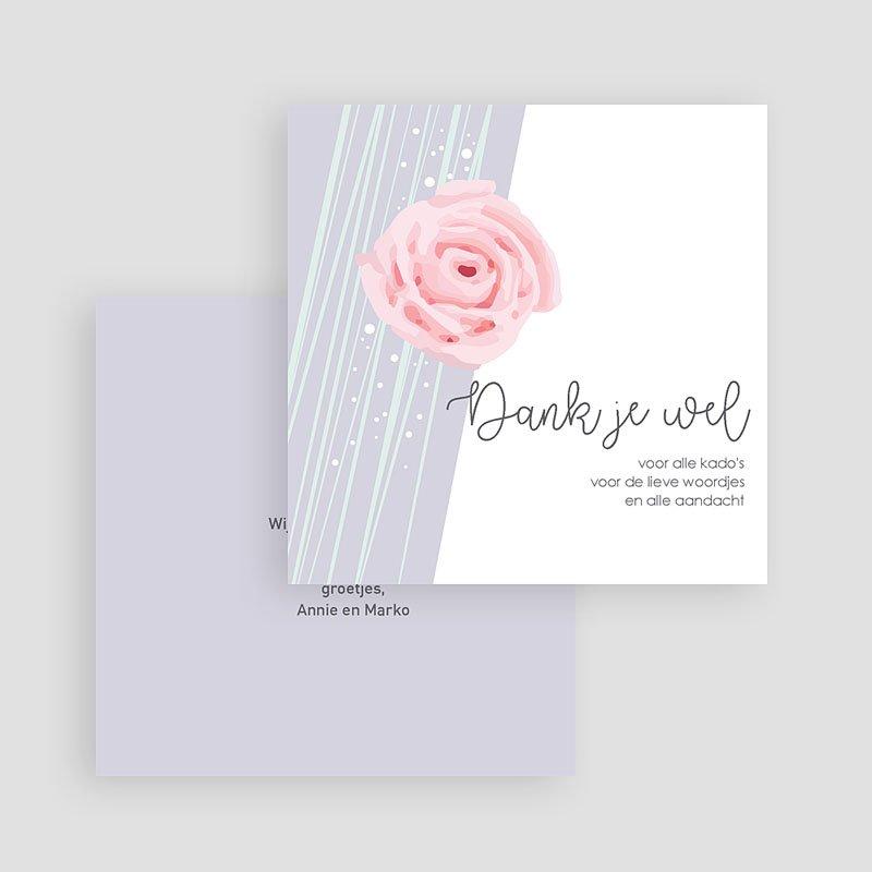 Bedankkaartje geboorte dochter Sweet Candy gratuit