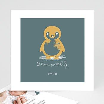Geboortekaartjes Dieren - Kleine pinguïn - 0