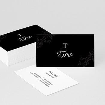 Visitekaartjes - Black & Floral - 0