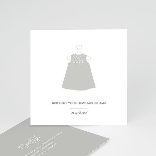 Bedankkaart doopviering meisje Doopjurk