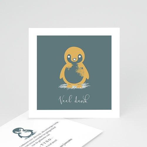 Bedankkaarten geboorte dierenmotief - Kleine pinguïn 63992 thumb