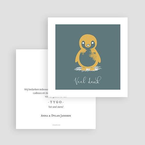 Bedankkaarten geboorte dierenmotief - Kleine pinguïn 63994 thumb