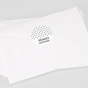Stickers Doopsel - Zwarte Confetti - 0