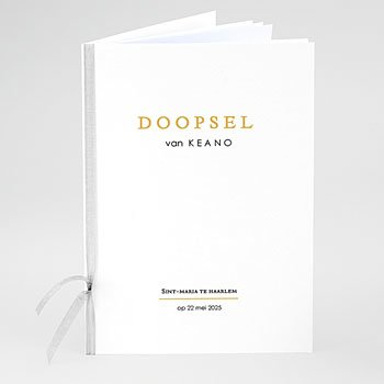 Boekomslag voor doopboekjes - Zwarte Confetti - 0