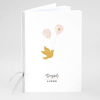 Boekomslag voor doopboekjes - Gouden duif - 0