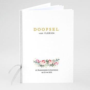 Boekomslag voor doopboekjes - Doopsel Bloemen - 0