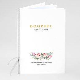 Boekomslag voor doopboekjes Doopsel Bloemen