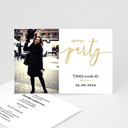 40 Jaar Oud Uitnodigingen Verjaardag - Joyful Party 40 - 0