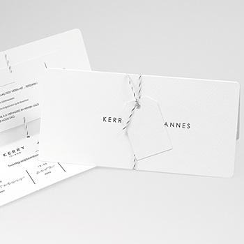 Klassieke trouwkaarten - Minimalistische Pocketfold - 0