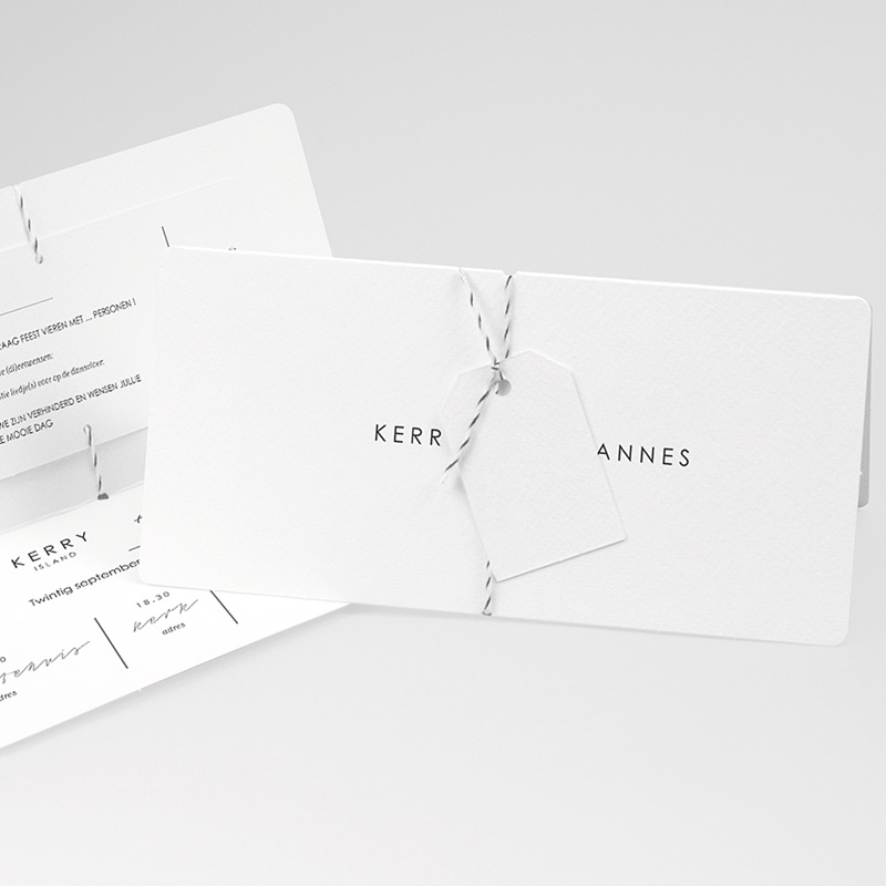 Klassieke Trouwkaarten Minimalistische Pocketfold