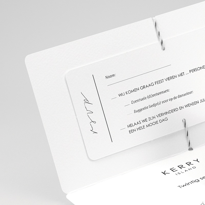 Klassieke Trouwkaarten Minimalistische Pocketfold gratuit