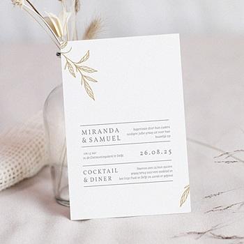 Chique trouwkaarten - Minimal Botanical - 0
