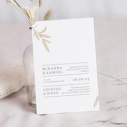 Aankondiging Huwelijk Minimal Botanical