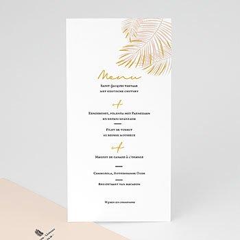 Menukaarten huwelijk - Golden palm leaf - 0