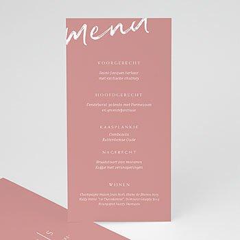 Personaliseerbare menukaarten huwelijk - Color Shades - 0