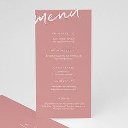 Personaliseerbare menukaarten huwelijk Color Shades