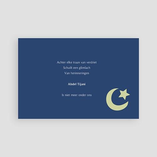 Bedankkaarten overlijden, Islamistisch - Ster en wassende maan, groen 64314 thumb