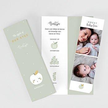 Geboortekaartje jongen - Cute Apple - 4