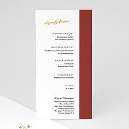 Menukaarten huwelijk Goud & Bordeaux rood
