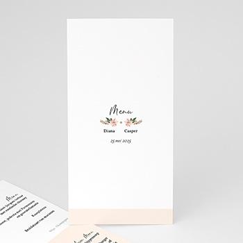 Menukaarten huwelijk - Pastel Floral - 0