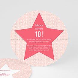 Uitnodigingen Verjaardag Meisje - Etoile Rose - 0
