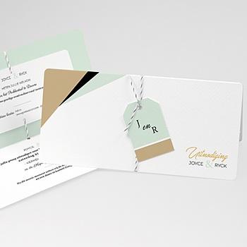 Creatieve trouwkaarten - Groen & Goudfolie - 0