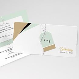 Aankondiging Huwelijk Groen & Goudfolie