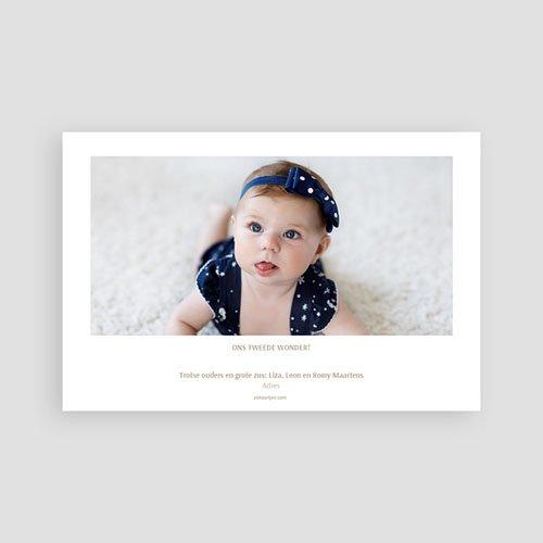 Geboortekaartjes Meisje Blauwe Bladeren pas cher