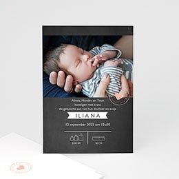 Aankondiging Geboorte Lief Krijtbord