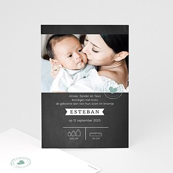 Geboortekaartje jongen - Krijtbord Look - 0