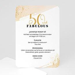 Uitnodiging Anniversaire adulte Fabulous 50
