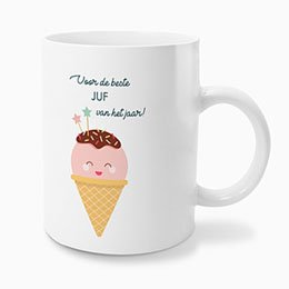 Personaliseerbare mokken Happy Ice Cream