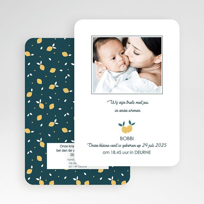 Geboortekaartjes Jongen Lemon Tree gratuit
