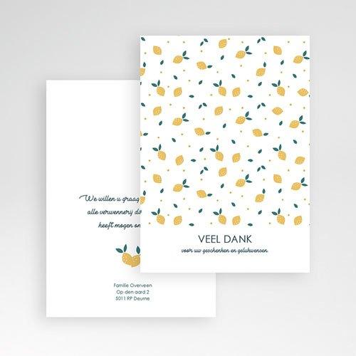 Bedankkaartjes geboorte zonder foto - Lemon Tree 65318 thumb