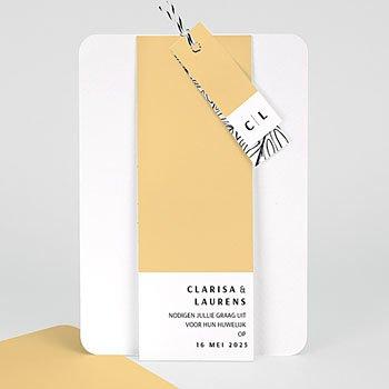 Creatieve trouwkaarten - Zomerse Geel - 0
