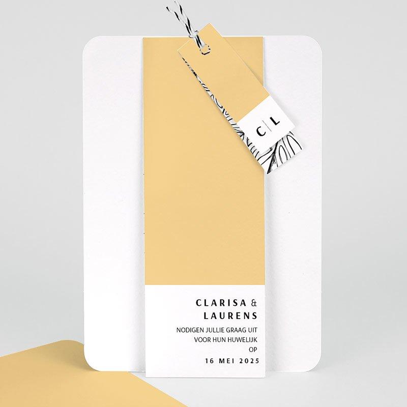 Creatieve trouwkaarten - Zomers Geel 65331 thumb