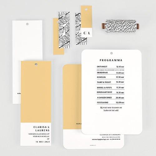 Creatieve trouwkaarten - Zomers Geel 65333 thumb