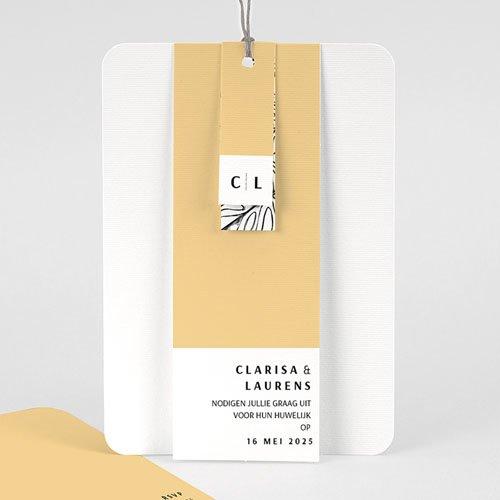 Creatieve trouwkaarten - Zomers Geel 65336 thumb