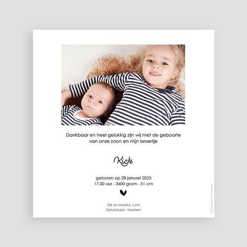 Geboortekaartjes voor een Broertje of Zusje Grote zus kleine broer pas cher