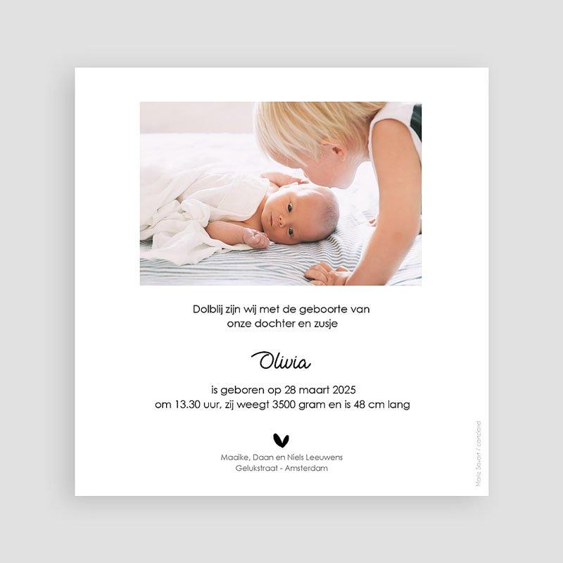 Geboortekaartjes voor een Broertje of Zusje broers en zussen pas cher