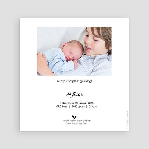 Geboortekaartjes voor een Broertje of Zusje Broederliefde pas cher