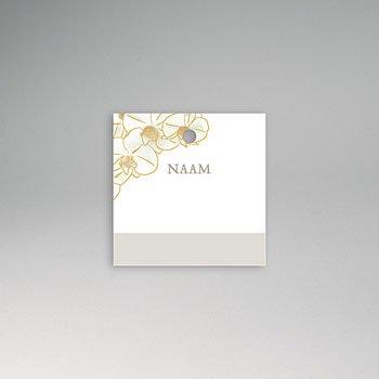 Tafelkaartjes huwelijk - Golden Orchids - 0
