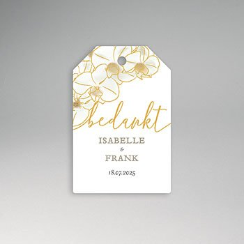 Etiket huwelijk - Golden Orchids - 0