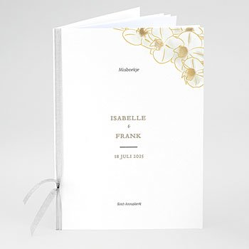 Boekomslag voor trouwboekjes - Golden Orchids - 0
